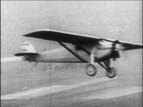 spirit of st. louis flying / newsreel - 1927 stock videos & royalty-free footage