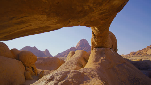 ws spitzkoppe rock formation and peaks,namibia,africa - real time footage stock videos & royalty-free footage