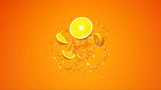 splash orange juice . - orange colour stock videos & royalty-free footage