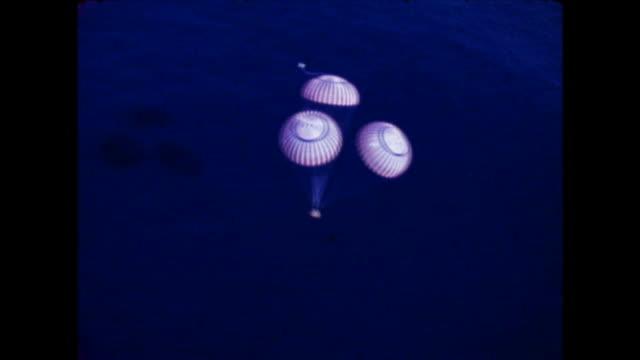 splashdown of the command module of apollo 17 on . apollo 17 was nasa's final lunar landing mission in the apollo program. - moon stock videos & royalty-free footage