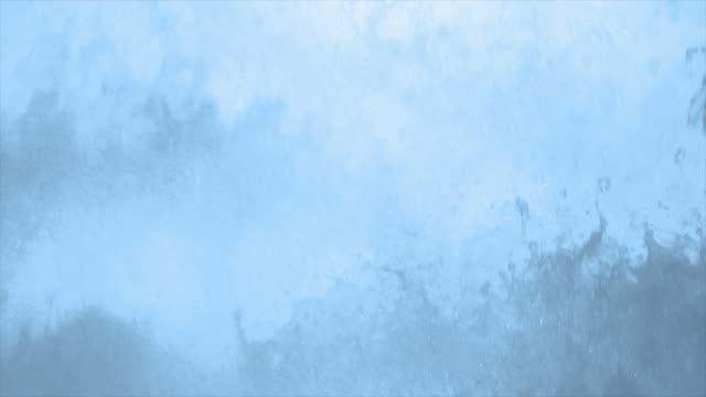 HD Splashing foam close-up in slow motion
