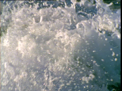 splashing wake from outboard motor from rear of boat, shark bay, western australia - wake water stock videos & royalty-free footage