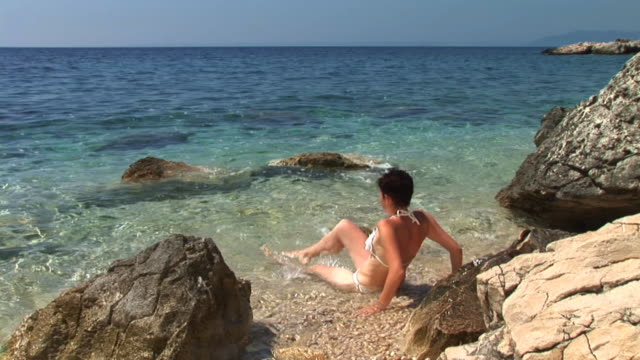 hd: splashing water - adriatic sea stock videos & royalty-free footage