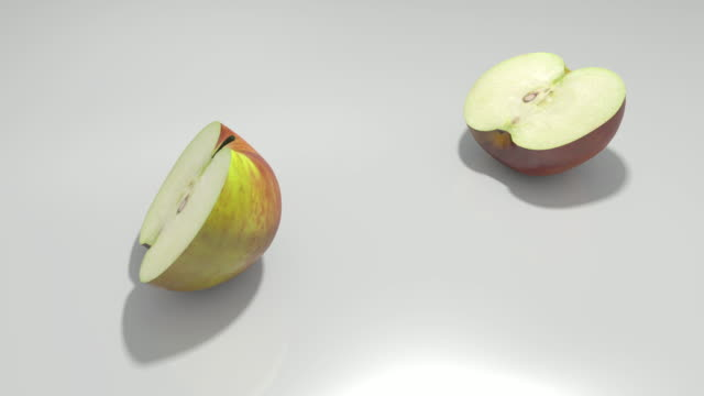 ms split apple falling onto table / greece - part of stock videos & royalty-free footage
