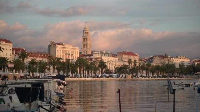 Split Croatia Harbor at Sunset