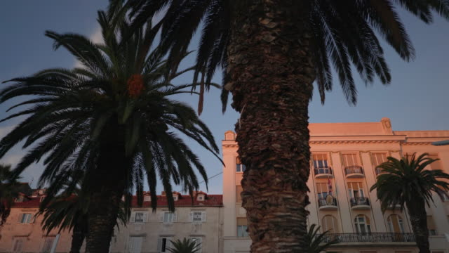 split croatia old town at dusk - croatia stock videos & royalty-free footage