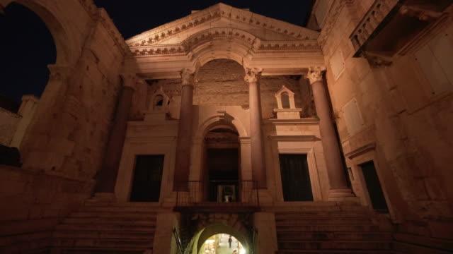 Split Croatia Old Town Diocletian's Palace Night