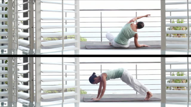 Split Screen Yoga Meditation
