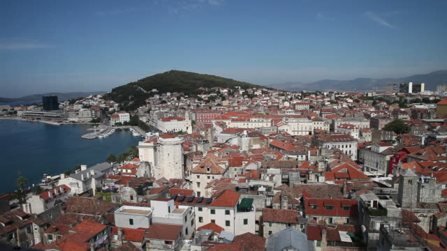 split, view of the city - croatia stock videos & royalty-free footage