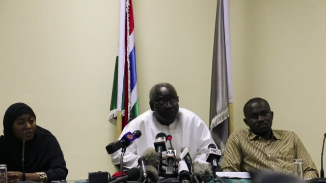 spokesman for the coalition halifa sallah warns that people who refuse obedience allegiance or adherence to the authority become rebels in banjul... - spokesman stock videos and b-roll footage