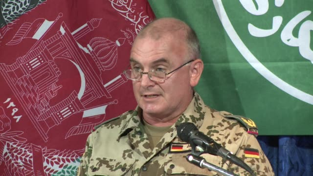 spokesman for the international security assistance force said at a press briefing on monday that the helicopter crash that killed 38 people,... - international security assistance force stock videos & royalty-free footage