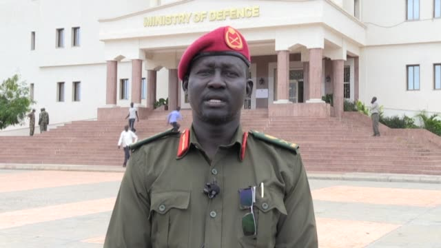 spokesman for the south sudan people's defence forces, major general lul ruai koang, gives a statement following the deaths of 127 civilians and... - spokesman stock videos & royalty-free footage