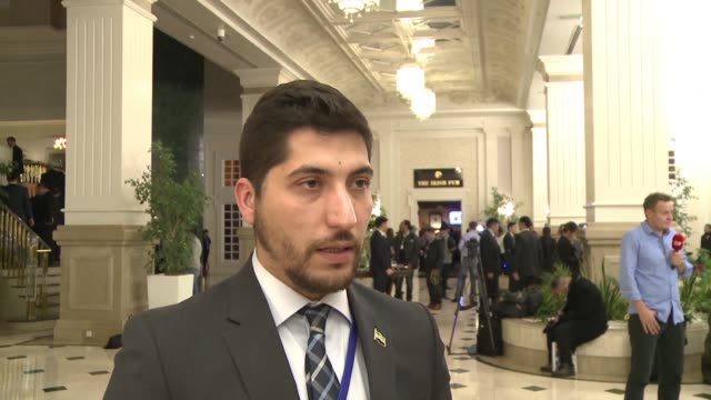 a spokesman for the syrian rebel delegation says they have met with turkey and russia to discuss the ceasefire in syria on the first day of talks... - spokesman stock videos and b-roll footage