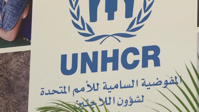 spokesperson for the un refugee agency in the lebanese capital beirut discusses the situation of syrian refugees in the country - lebanon country stock videos & royalty-free footage