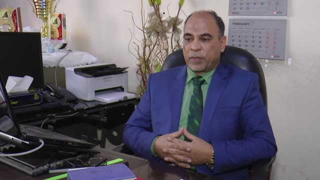 spokesperson of iraqi ministry of planning abduzzehra hindavi tells journalist in baghdad iraq on february 06 2017 that since the us invasion of iraq... - orphan stock videos and b-roll footage