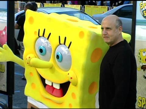spongebob squarepants and jeffrey tambor at the 'the spongebob squarepants movie' world premiere at grauman's chinese theatre in hollywood,... - jeffrey tambor stock videos & royalty-free footage