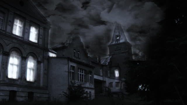 spooky castle hd - gothic style stock videos & royalty-free footage