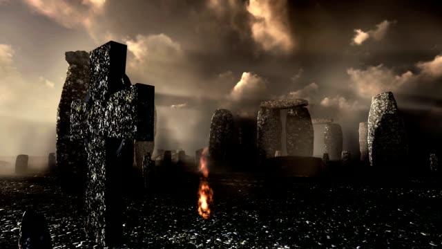 Spooky celtic cementary