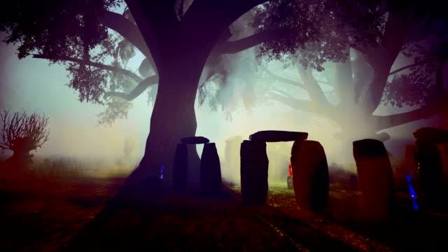vidéos et rushes de spooky celtic cementary - cimetière
