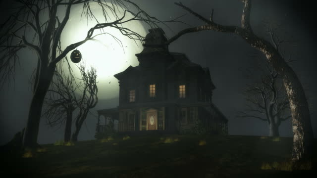spooky house. - stately home stock videos & royalty-free footage