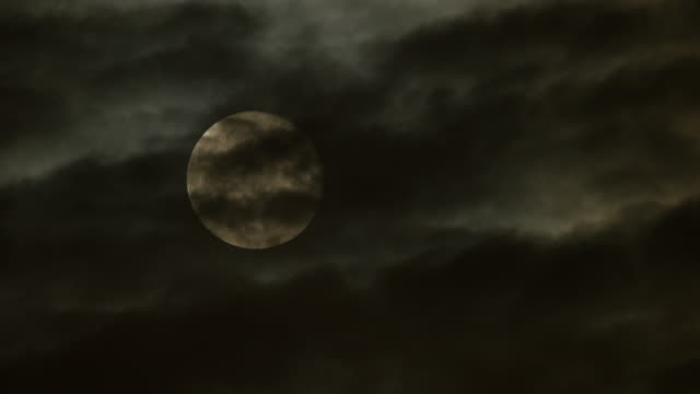 spooky moon night background. time lapse of moonrise