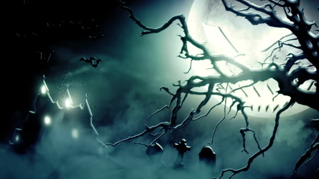 Spooky scenery (blue) - Loop