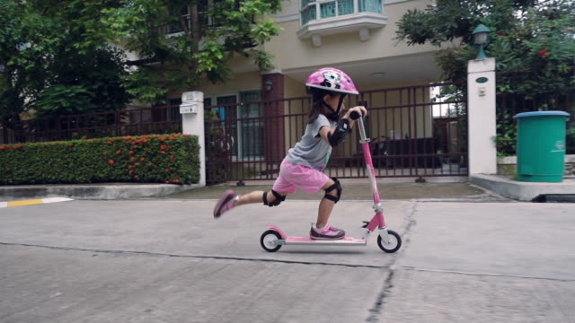 sport & family - push scooter stock videos and b-roll footage