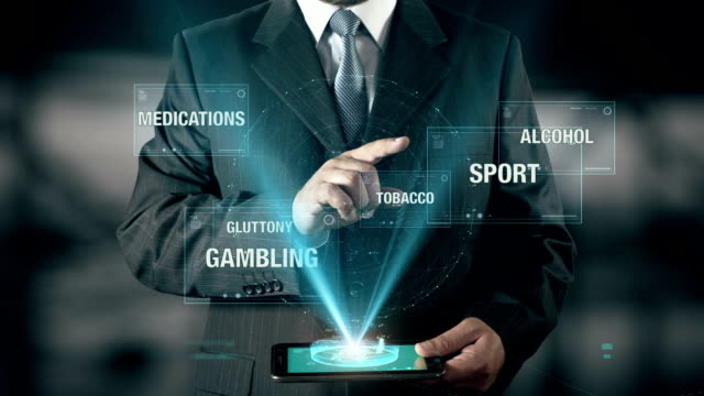 Sport Healthy Life Success Concept Businessman using digital tablet technology futuristic background