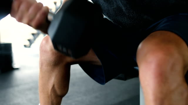 sport. unrecognizable strong athlete is going to do exercise - bicep stock videos & royalty-free footage