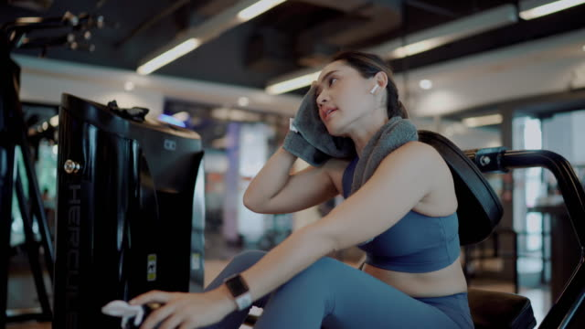 sport woman drinking a protein shake at gym - protein stock videos & royalty-free footage