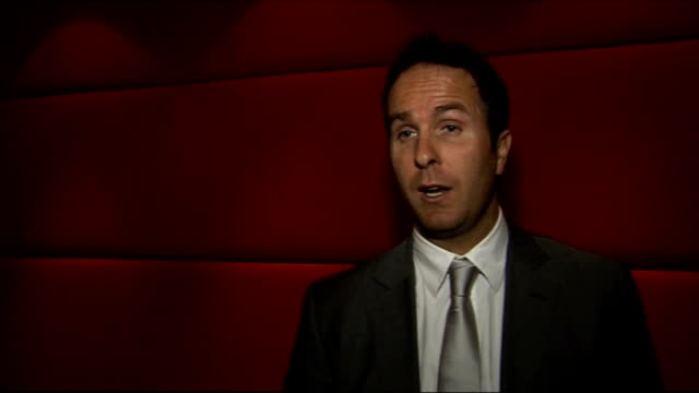 sports book of the year 2009 awards england london int michael vaughan interview sot on his autobiography 'time to declare' talks of his early career... - biographie stock-videos und b-roll-filmmaterial