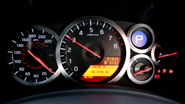 sports car tachometer revving - dashboard stock videos & royalty-free footage