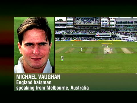Cricket World Cup Boycott Call ITN Michael Vaughan phono SOT ECB will decide whether we go to Zimbabwe or not