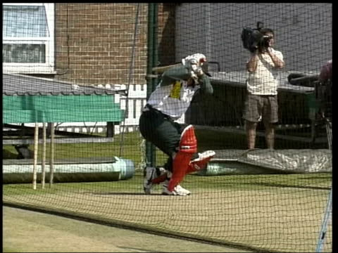 Cricket World Cup Boycott Call LIB Members of the Zimbabwe cricket team practising in the nets PAN Batsman in the nets Unidentified Hussain talking...