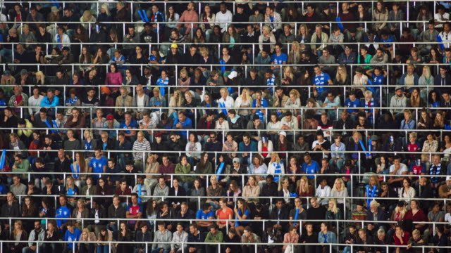 ld sports fans sitting on the tribune of the stadium and waiting for the game to start - anticipation stock videos & royalty-free footage