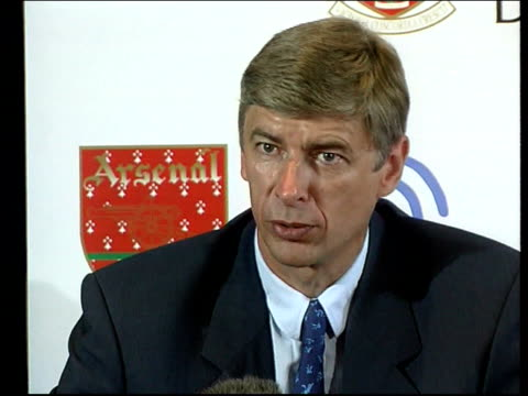 Football Arsenal Nicolas Anelka ITN Arsene Wenger press conference SOT Talks of Anelka not returning