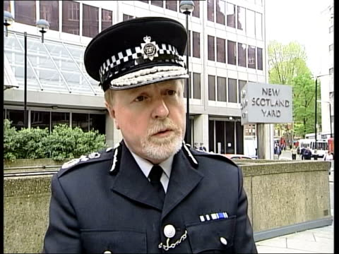football millwall v birmingham city violence itn deputy commissioner ian blair interview sot scotland yard is outraged by what has happened sign on... - cracker stock videos and b-roll footage