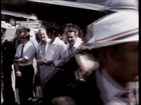 football world cup england squad leave for dubai lib members of 1970 england squad along and boarding plane - 1970 stock videos & royalty-free footage