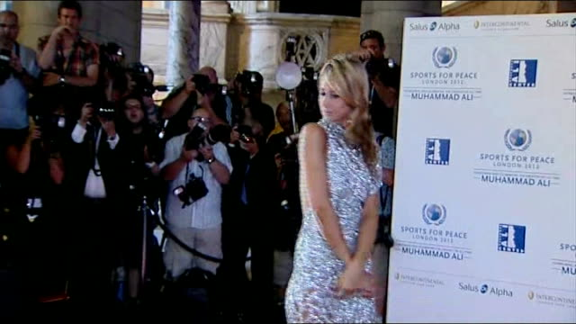 stockvideo's en b-roll-footage met celebrity arrivals england london va museum photography** rahman ali along and posing for photocall / jemima khan posing / lady victoria hervey... - bob geldof