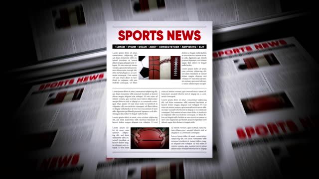 sports news - magazine stock videos & royalty-free footage