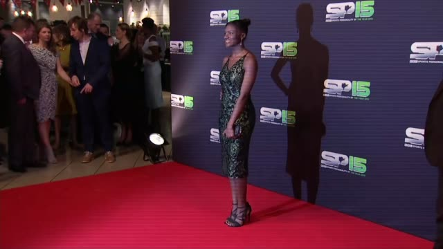 bbc sports personality of the year 2015 red carpet northern ireland belfast photpgraphy*** couple on red carpet / lucy bronze on red carpet / leeds... - steve cram stock videos & royalty-free footage