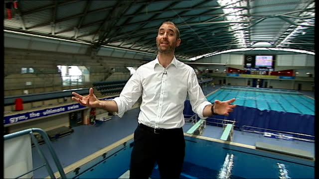 Sports scientists help competitors improve performance Dale White and Georgina Davenport interview SOT Reporter to camera General view of diving...