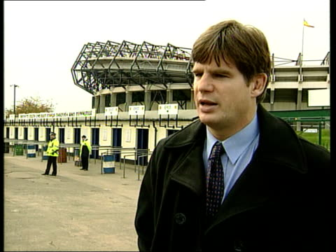 scottish rugby itn murrayfield i/c john beattie interview sot ten years ago everybody in rugby clubs knew the players everyone knew everybody/ when... - international match stock videos & royalty-free footage