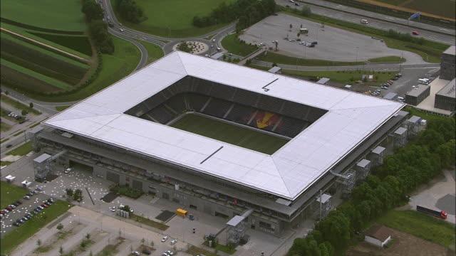 AERIAL Sports stadium and surrounding area / Salzburg, Austria