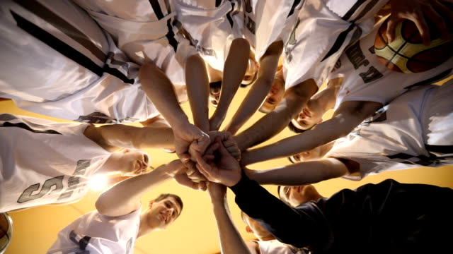 sports team unity - basketball sport stock videos & royalty-free footage