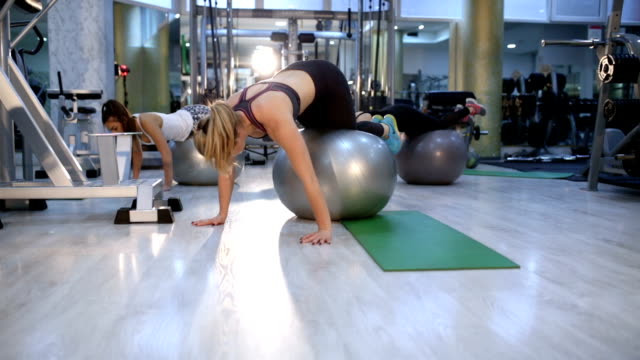 Sports Training Drill With Pilates Ball