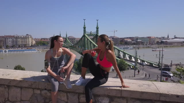 sports training in budapest - liberty bridge budapest stock videos & royalty-free footage