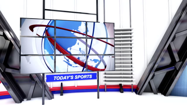 sports virtual set studio - broadcasting stock videos & royalty-free footage