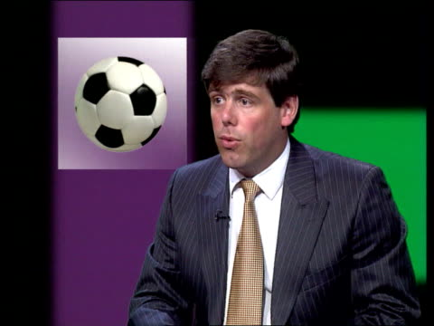 tv broadcasting fa premiership football itn william davies interview sot premier league argued that if this agreement broke down competition within... - forbidden stock videos & royalty-free footage