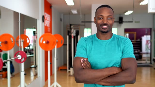 sportsman in the gym - coach stock videos & royalty-free footage